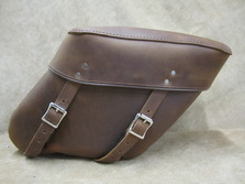 403DB Economy Large Wide Angle Leather Saddlebags