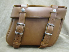 211 Deluxe Slight Angle Leather Saddlebags