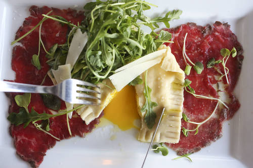 Carpaccio of beef tenderloin  [EVE EDELHEIT  |  Times]