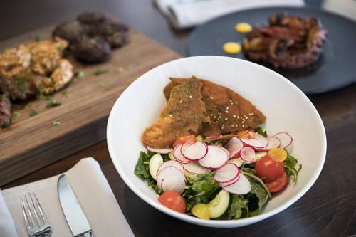 Kale fattoush salad  [MONICA HERNDON  |  Times]