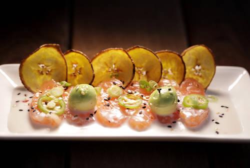 Salmon tiradito  [LARA CERRI  |  Times]