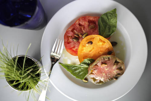 Salt- and sugar-cured heirloom tomatoes  [LARA CERRI  |  Times]