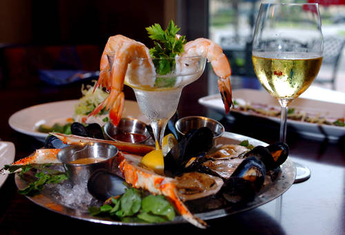 Enjoy a seafood bowl and glass of chardonnay at Parkshore Grill. [ JULIE BUSCH | Times ]
