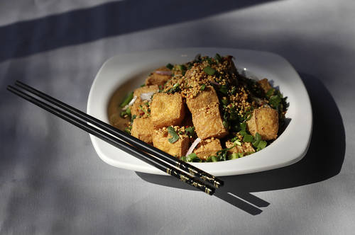 Salt and pepper tofu  [LARA CERRI  |  Times]