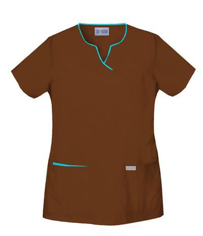 Cherokee-Womens-2834-Split-Neck-Top-Many-Colors-Many-Sizes-NWT