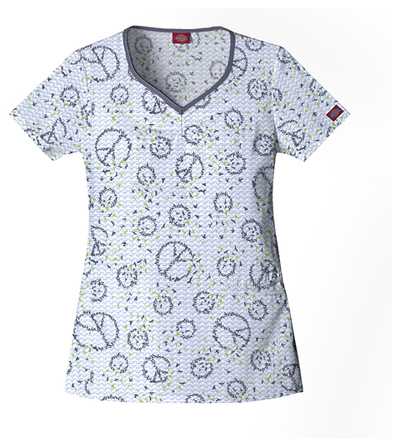Dickies-82771-Shaped-V-Neck-Top-Birds-Of-Peace-Buy-3-ship-6