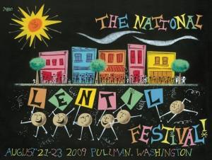 2009 National Lentil Festival Poster