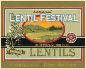 2006 National Lentil Festival Poster
