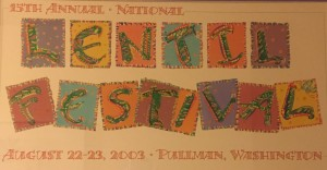 2003 National Lentil Festival Poster