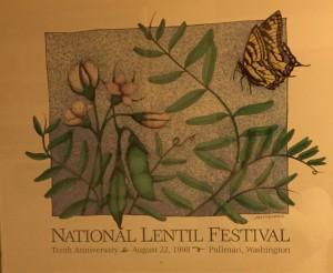 1998 National Lentil Festival Poster