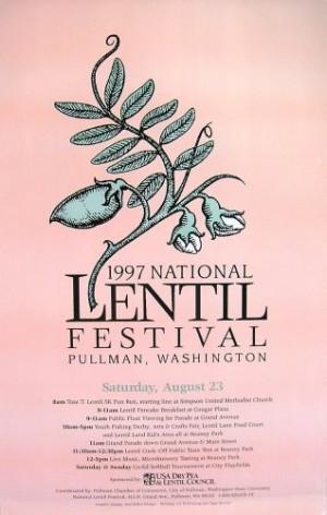 1997 National Lentil Festival Poster