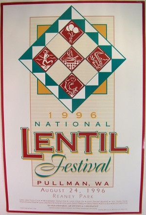 1996 National Lentil Festival Poster