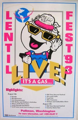 1993 National Lentil Festival Poster