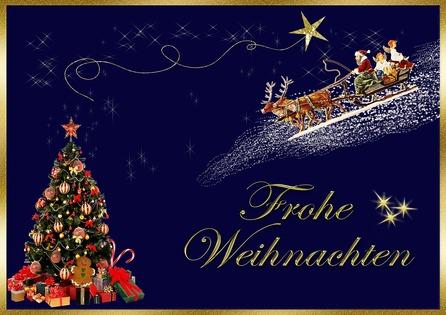 Es ist die Zeit, wo man sich frohe Weihnachten wünscht