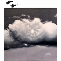 Edie Nadelhaft, Platinum Sky with Jets, 2013. Image #1219