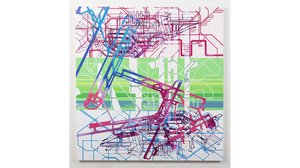 "Tony Ingrisano, ""Schipol"", 2017, acrylic on paper, cut and rearranged, mounte.... Image #1052"