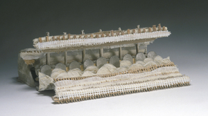 "Drew Shiflett, ""Crowd 2"", 2001, paper, fabric, glue, wood, cardboard, wire, p.... Image #1053"
