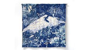 "Fran Siegel, ""Mound"", 2018, Quilted and sewn cyanotype patches on cotton scri.... Image #1114"