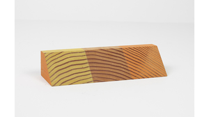 "Jim Osman, ""Start-06"", 2018, wood, paint, 1 1/2 x 6 3/4 x 2 1/4 inches. Image #1299"
