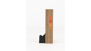 "Jim Osman, ""Start-32"", 2018, wood, paint, 6 5/8 x 2 3/4 x 3 inches. Image #1345"