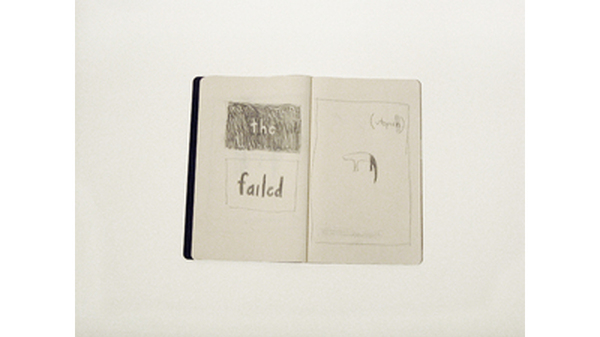 "Cyrilla Mozenter, ""the failed utopian I (sketchbook)"", 2014, Pencil on paper .... Image #442"