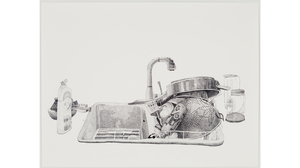"Joan Linder, ""Sink (Ecover)"", 2013, Ink on Paper, 38 x 50 inches . Image #464"