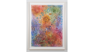 "Ken Buhler ""Cosmos"", 2017, watercolor on Rives BFK, 48 x 37.25 inches framed. Image #825"