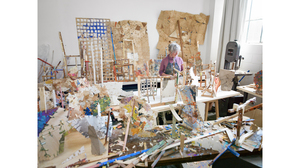 Helen O'Leary in her studio. (Photo: Eva O'Leary). Image #896
