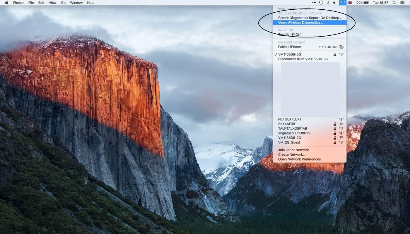 Wi-Fi Scanner OS X El Capitan