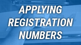 Applying registration numbers