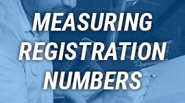 Measuring registration numbers