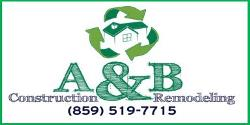 Website for A & B Construction & Remodeling