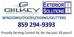 Website for Gilkey Windows of Central Kentucky