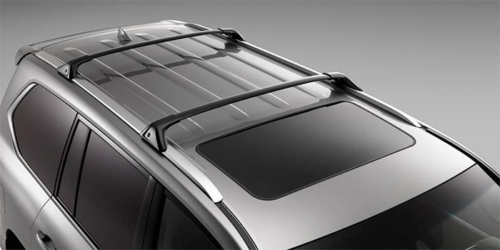 Lexus LX 2018 Barres transversales de porte-bagages de toit