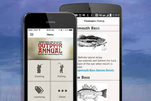Free mobile app available for texas hunting and fishing for Fishing license app