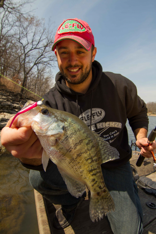 Fish can 39 t resist crappie kickers for Fishing sam rayburn