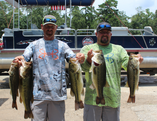 June 18 patriots challange won by hale and newman for Sam rayburn lake fishing report