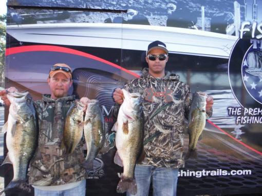 Bland and franks win feb 28 bass n bucks tournament for Toledo bend fishing report