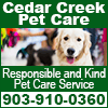 Cedar Creek Pet Care
