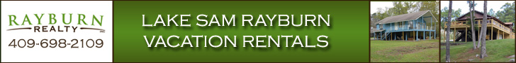 Sam Rayburn Lake Vacation Rentals