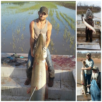 lake texoma in pictures gar fishing on the red river