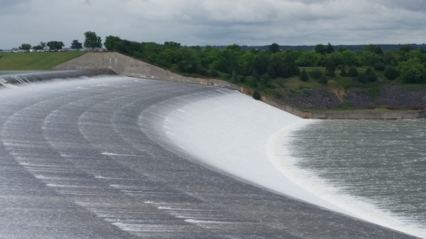 backside of Texoma spillway 5/24/2015