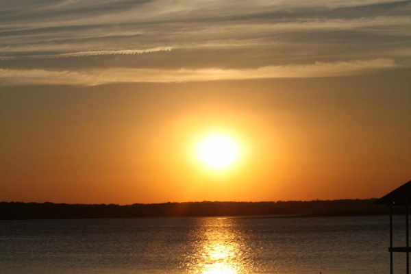 Sunset over Cedar Creek Lake