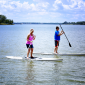 Paddle boarding on Cedar Creek Lake