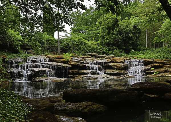 Waterfalls at Cedar Creek Lake