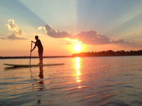 Sunset Paddling on Cedar Creek Lake
