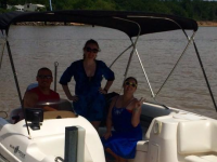 New boat fun at Eufaula