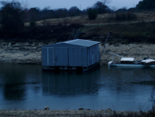 Boathouse fishing barge swimming platform lake whitney for Lake whitney fishing
