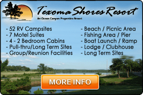 Lake Texoma Camping at Texoma Shores