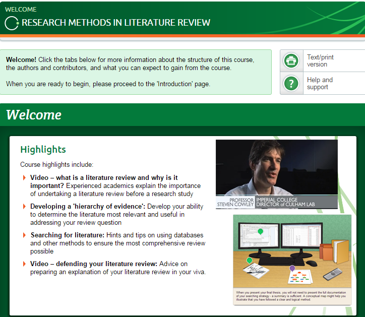Literature review online